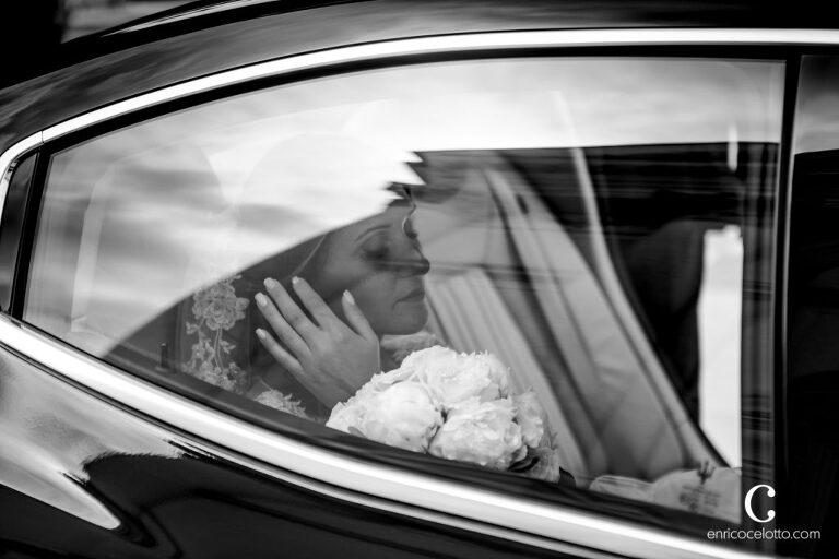 Bride arrive
